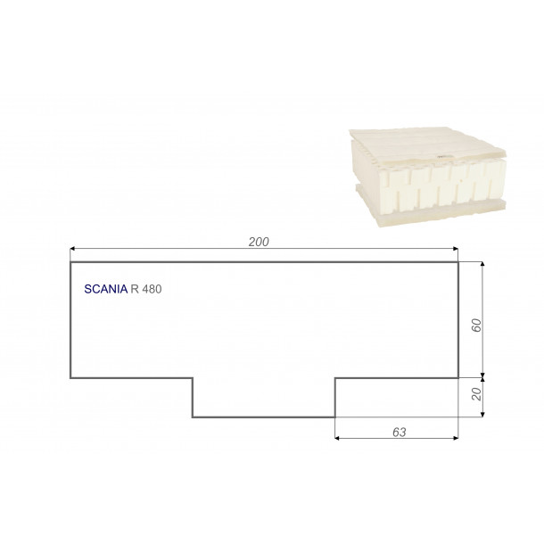 LKW Matratze Vita-line Pur Light SCANIA R 480 80x200 cm