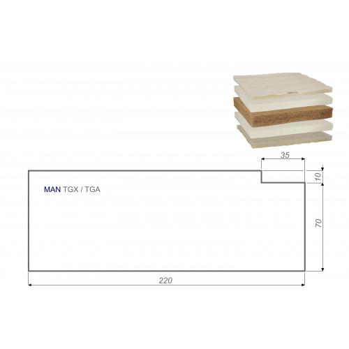 LKW Matratze Vita-line Extra Plus MAN TGX / TGA 80x220 cm