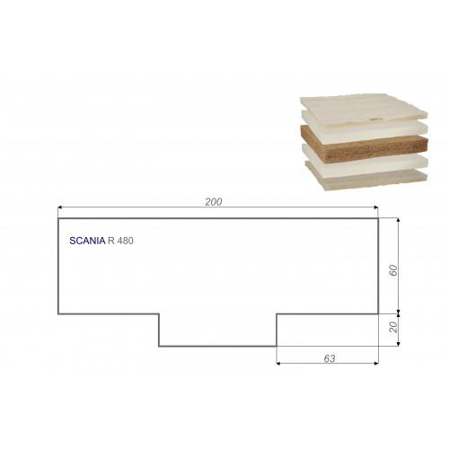 LKW Matratze Vita-line Extra Plus SCANIA R 480 80x200 cm