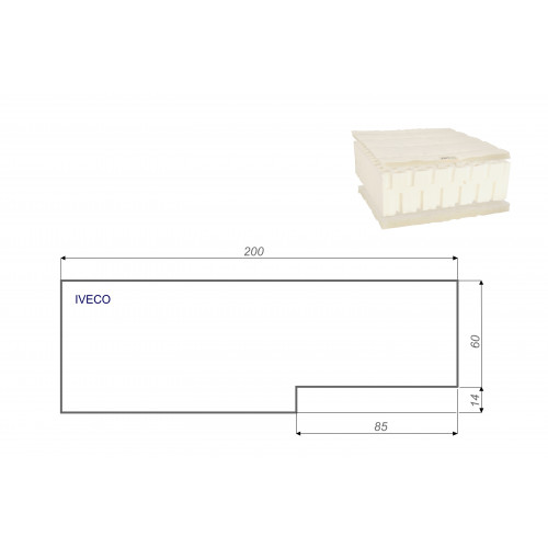 LKW Matratze Vita-line Pur Light IVECO 60x200 cm