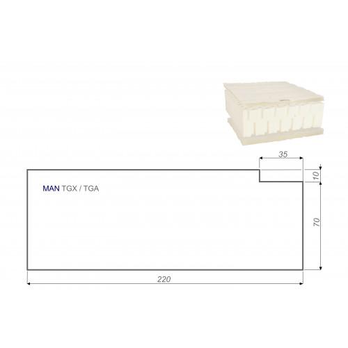 LKW Matratze Vita-line Pur Light MAN TGX / TGA 80x220 cm