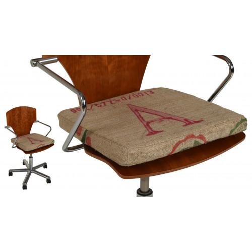Sitzkissen Sitzauflage Stuhlkissen aus Kaffeesäcken Jute 40x40x4 cm